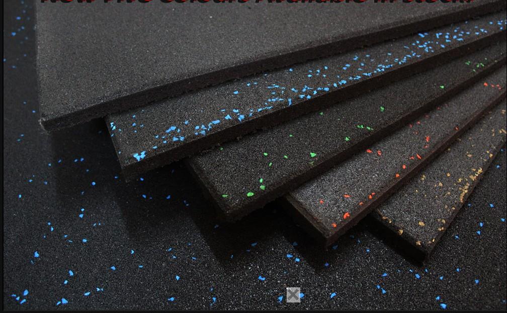 Rubber Floor Tile 1m X 1m Coloured Fleck